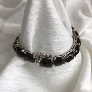 Smokey Quartz tennis bracelet